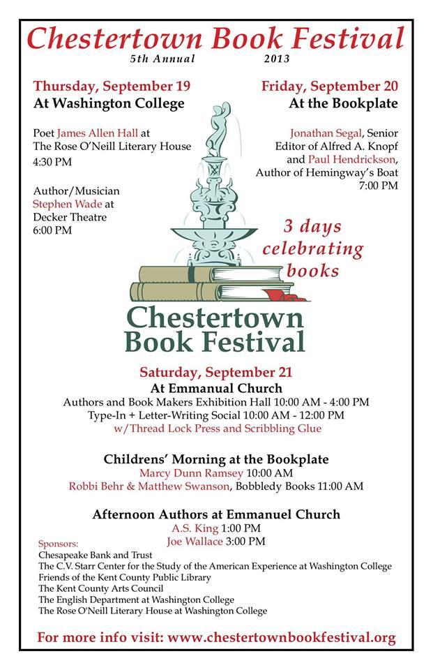 chestertown book festival 2013