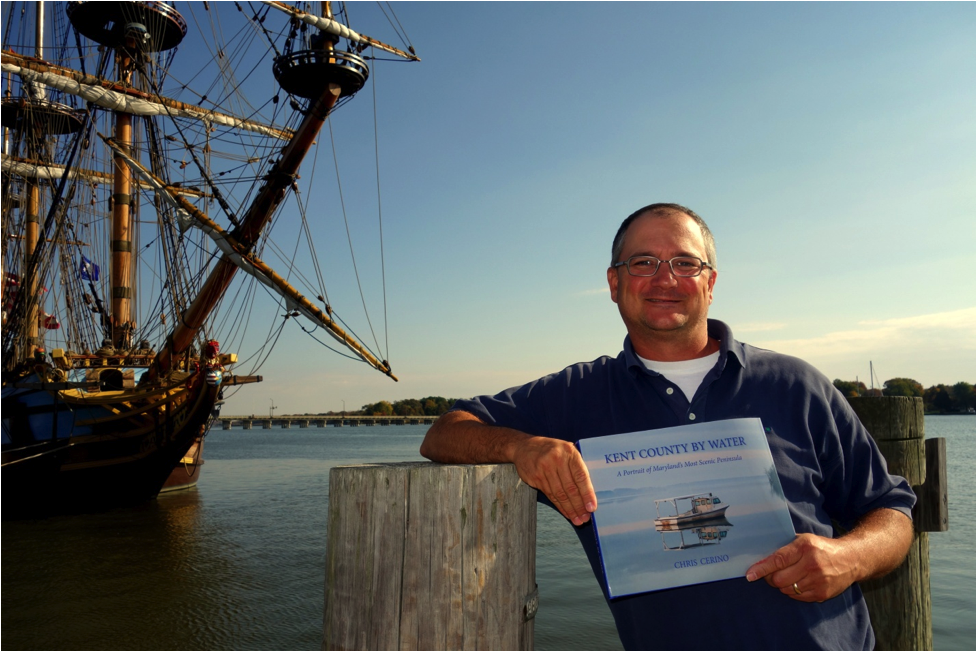 Chris Cerino with his Book and Ship